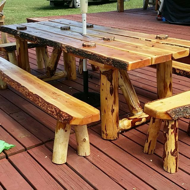 Patio Picnic Tables For Sale: Best Douglas Fur Rustic Picnic Table For Sale In Alamosa