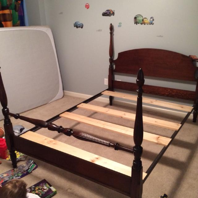 Full Size Antique Bed And Mattress Box Spring