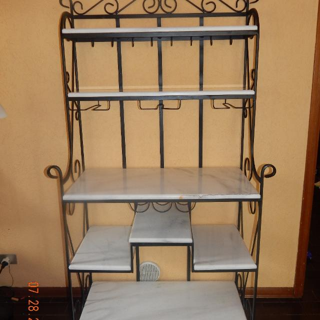 Solid Marble Bakers Rack