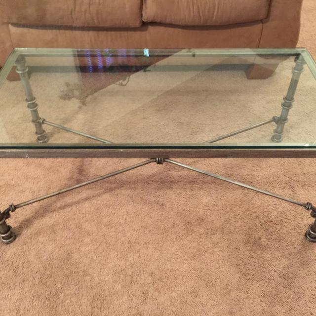 Find More Price Reduction! Pier One Glass Top Coffee Table