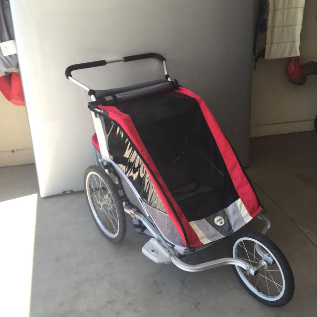 best chariot cougar 2 bike trailer jogger and accessories for sale in el dorado county. Black Bedroom Furniture Sets. Home Design Ideas