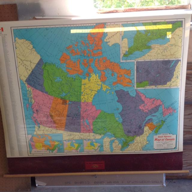 Find more Vintage Roll Up School Map Of Canada for sale at up to 90% off