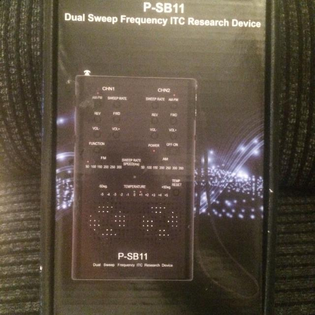 GHOST HUNTING EQUIPMENT- PARANORMAL - P-SB11 Duel Sweep Frequency ITC  RESEARCH DEVICE SPIRIT BOX