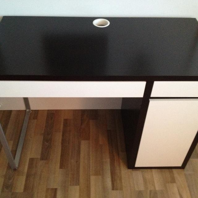 Ikea Micke Desk Black Brown White
