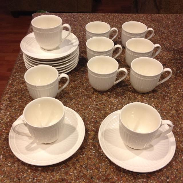 Reduced Mikasa Italian Countryside Coffee Cup And Saucers
