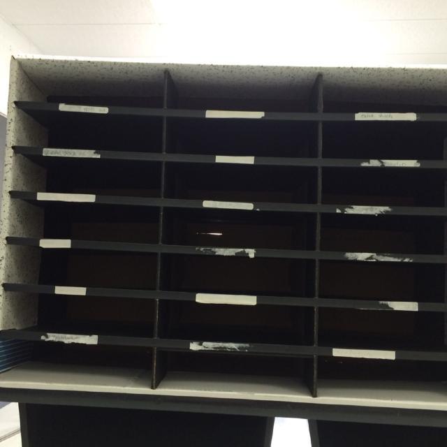Paper sorter/organizer used in classroom