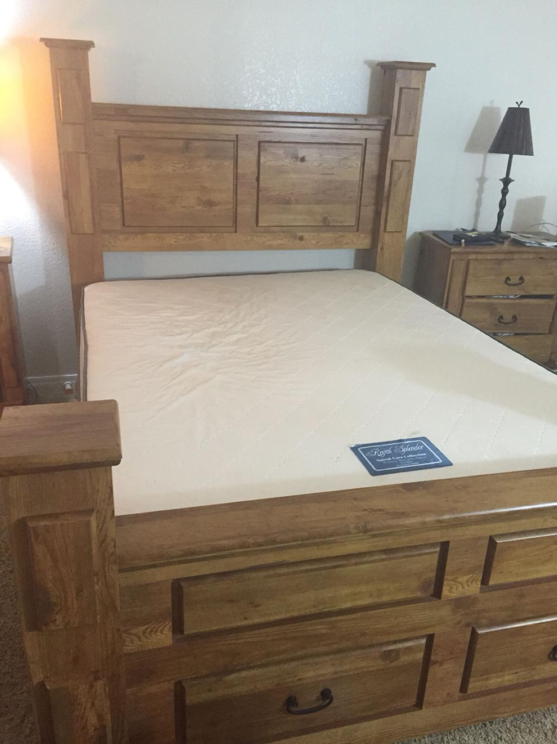 Find More Queen Bed With Mattress And Boxspring Regal