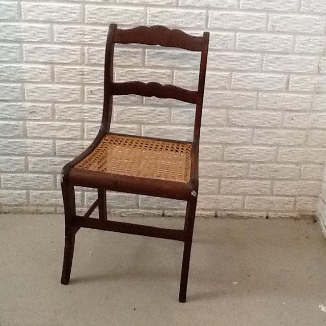 Wood Side Chair with Cane Seat - Antique: PERFECT HOLIDAY DECOR WITH GREENS  (see - Find More Wood Side Chair With Cane Seat - Antique: Perfect Holiday