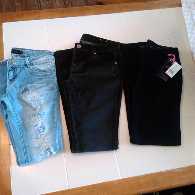 Find More Size 7 Junior Womens 3 Pants Lot Rue 21 Skinny Jeans New