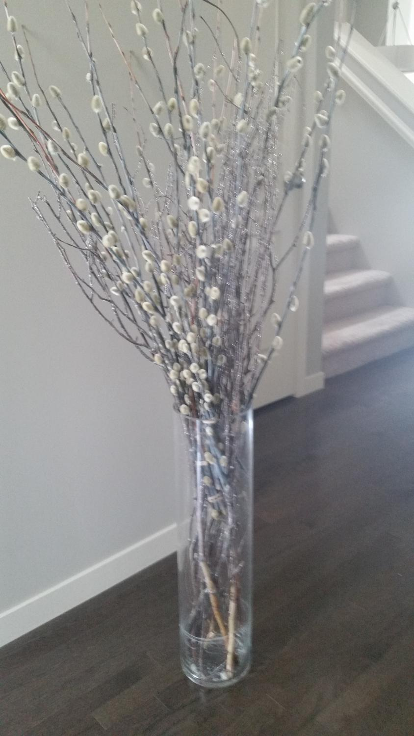 Find more twigs and pussywillows in glass large vase for sale at find more twigs and pussywillows in glass large vase for sale at up to 90 off reviewsmspy