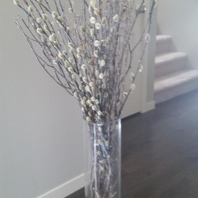 Twigs And Willows In Gl Large Vase