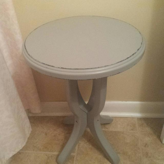 Small Grey Side Table From Hobby Lobby