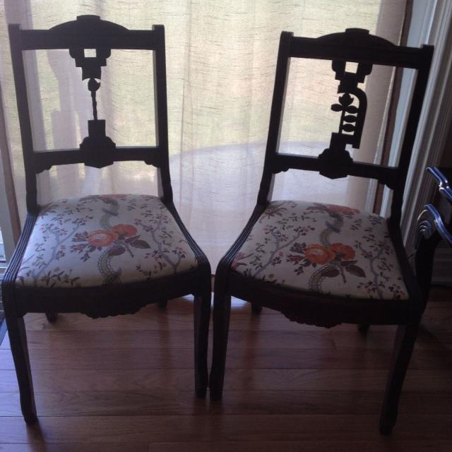 Antique sitting chairs - $20 for both! - Find More Antique Sitting Chairs - $20 For Both! For Sale At Up To