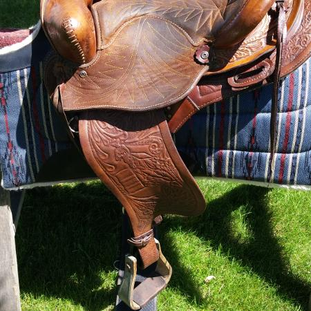 14 inch Leather Western Saddle, used for sale  Canada