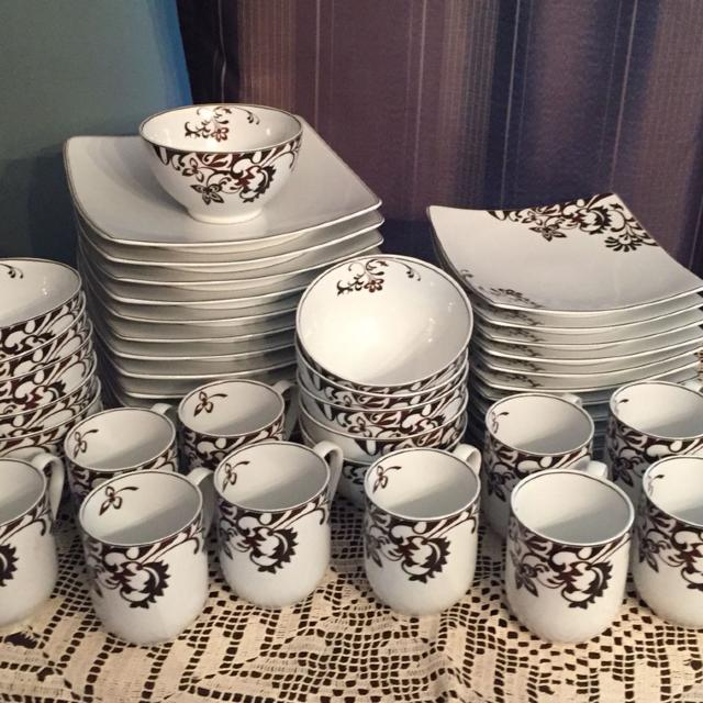 Find more Gourmet Basics By Mikasa In Chocolate Swirl, Porcelain ...