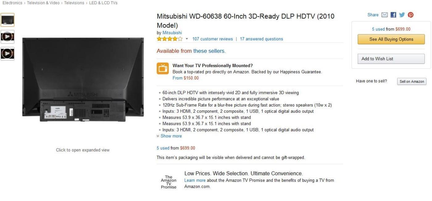 Mitsubishi Tv Dlp 60 Inch Reviews ✓ Mitsubishi Car