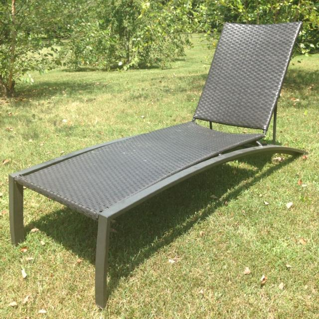 Allen + Roth Woven Aluminum Patio Chaise Lounge - Find More Allen + Roth Woven Aluminum Patio Chaise Lounge For Sale