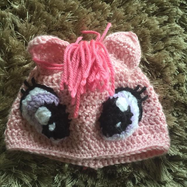 Best Handmade Crochet Baby Beanie   Hat - My Little Pony - Pinkie ... 185352e7fc46