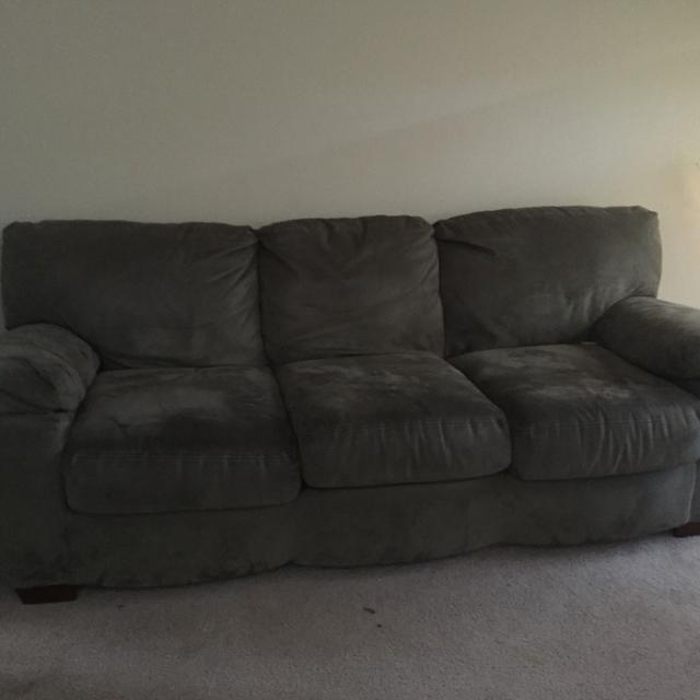 Forest green microfiber couch $150 or best offer