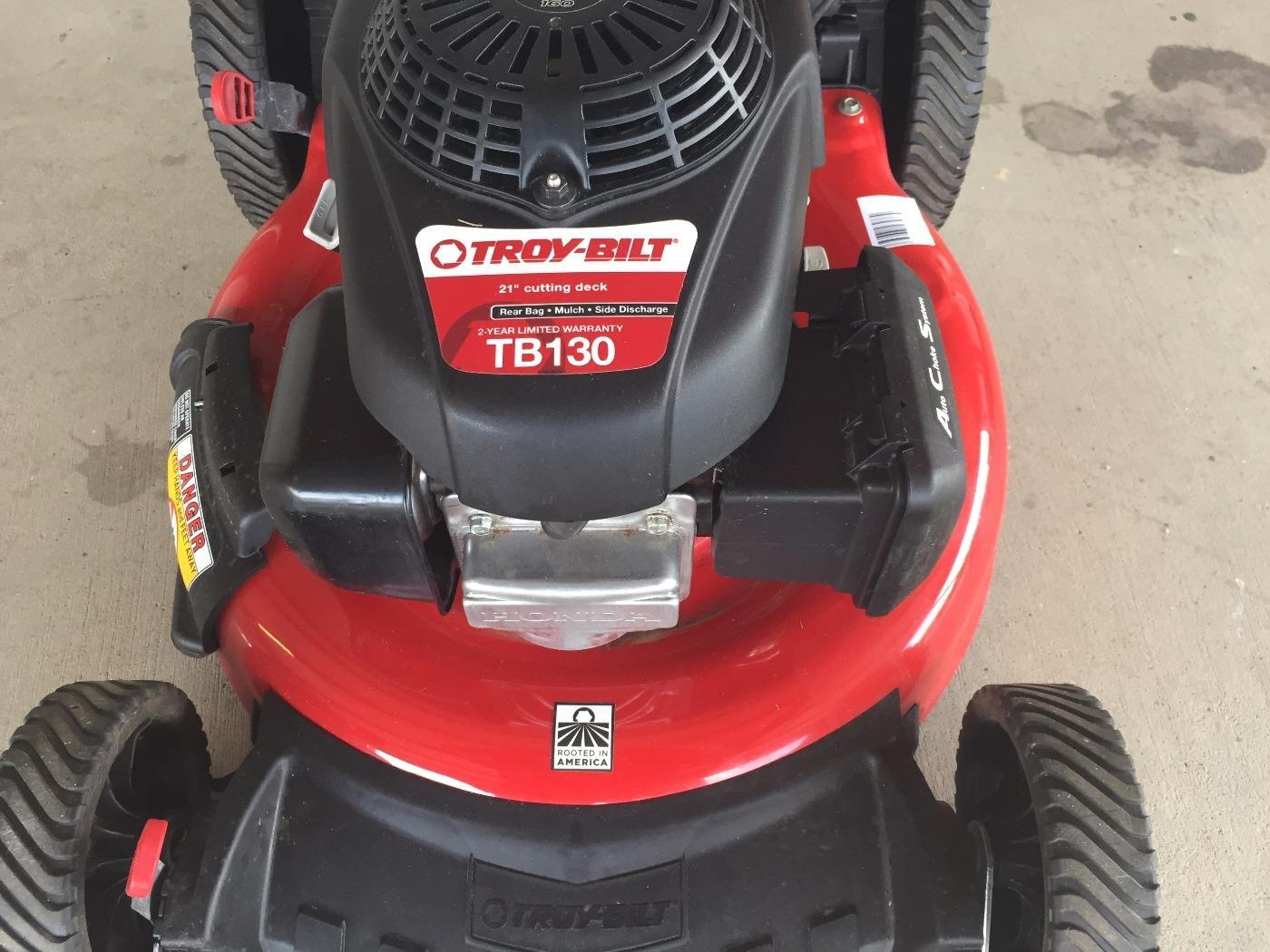find   troy bilt gas push lawn mower  honda engine mulching  sale