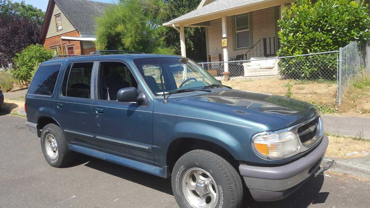 Green Ford 1996 Runs Great Just Had A Lot Of Work Done To It Tune Up And All I Need Ger Vehicle