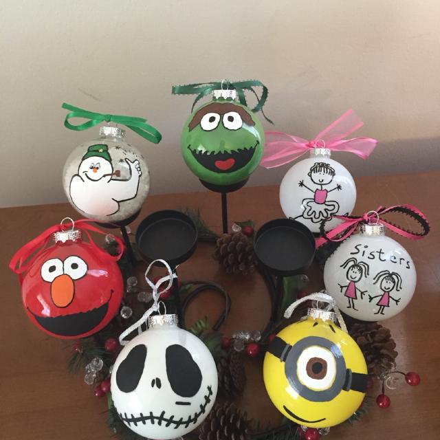 Best Hand Painted Christmas Ornaments 5 Each Many More Characters
