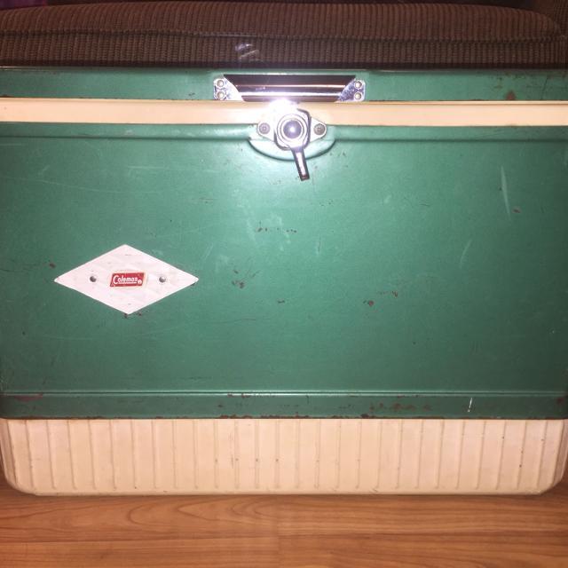 Vintage Coleman Steel Belted Cooler