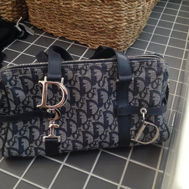 c8e572f4e8aa Best Christian Dior Navy Blue Monogram Canvas Speedy Boston Doctor Bag for  sale in Côte Saint-Luc