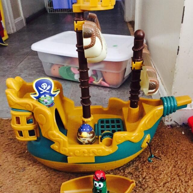 Find More Veggie Tales Pirate Ship Set For Sale At Up To 90 Off