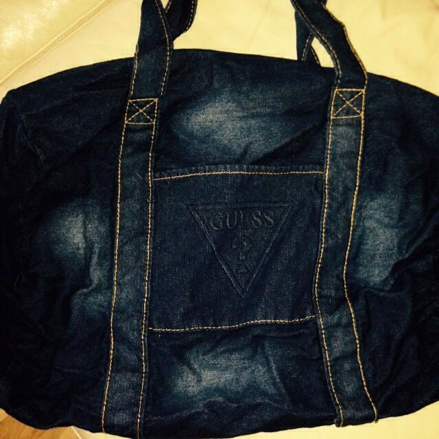 Guess Jean Purse Enough To Be Used As A Diaper Bag P
