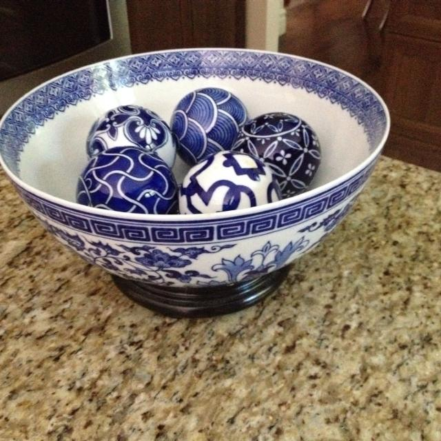 Find more bombay blue and white bowl decorative balls