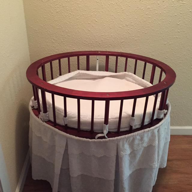 Wooden Bassinet Wcanopy Canopy Picture In Comments