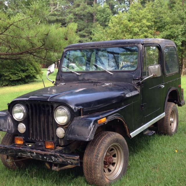 1979 jeep cj 7 wrangler qudra trac 4x4 v8 automatic needs work will run has  some rust on body frames ok trade or come get it 1500 00