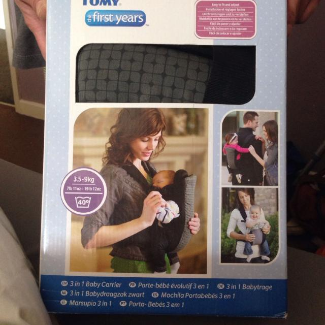 c1cd73fd38f Find more Tommy The First Years 3.5-9kg 3 In 1 Baby Carrier. Only ...