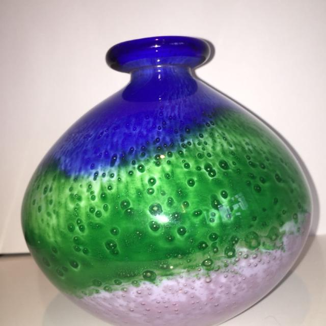 Best Vintage Murano Glass Vase By Floriani For Sale In Yorkville