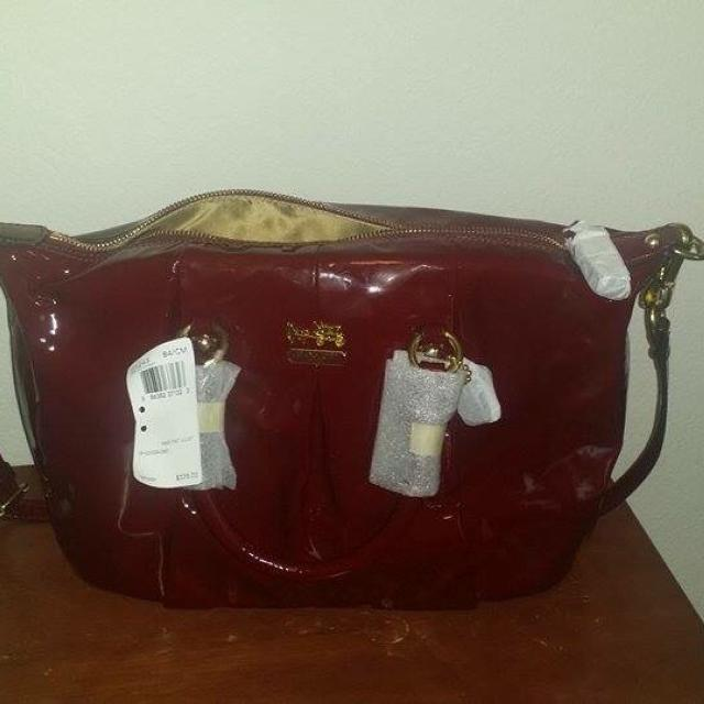 New Authentic Patent Leather Coach Bag