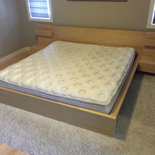 Ikea Malm King Bed Frame Head Board And End Tables