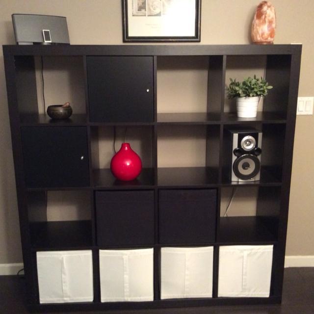 Ikea Malm Bookcase 59 X 15 Deep Black Brown Colour