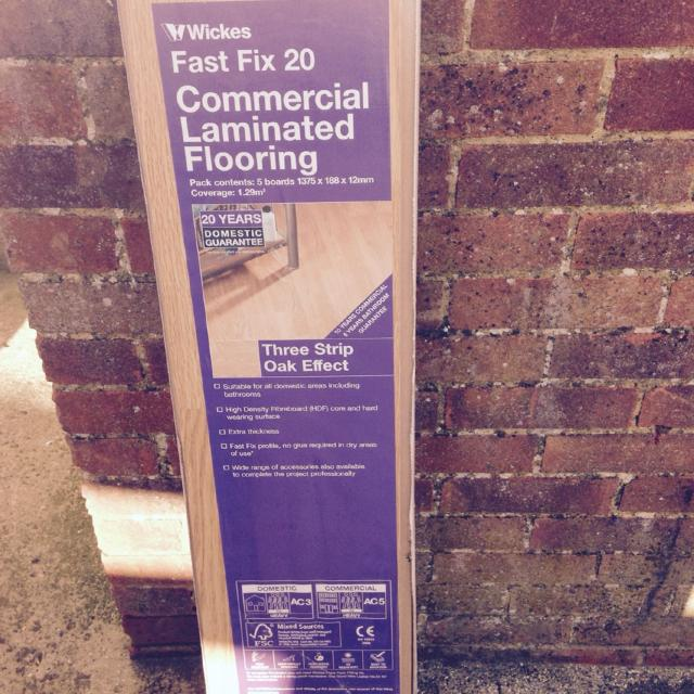 Find More Two Packs Unopened Laminate Flooring Wickes Fast Fix 20