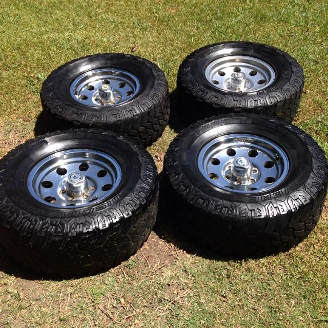 lug racing wheels american chevy tires peeling mud two cooper stt 16x finish shape good tx county sold off