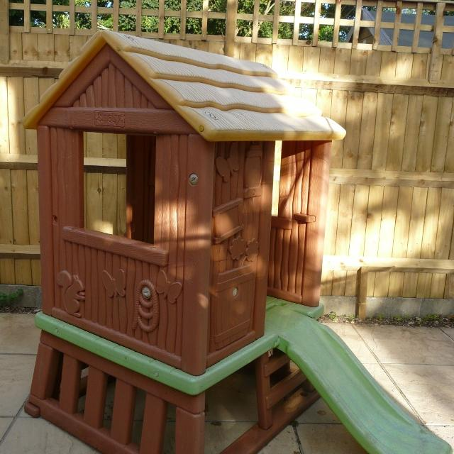 Find More Smoby Log Cabin Playhouse And Slide For Sale At Up To 90 Off