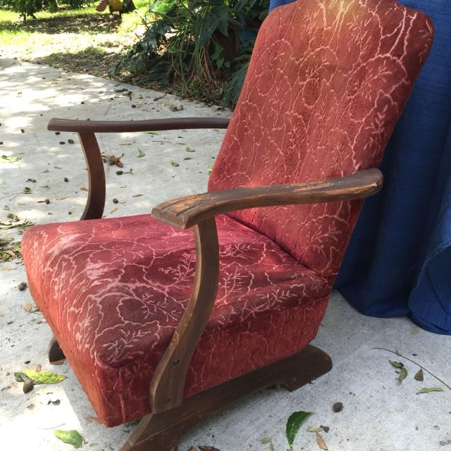 Vintage platform rocker from the 30's or 40's. - Find More Vintage Platform  Rocker From - Antique Platform Rocking Chairs Antique Furniture