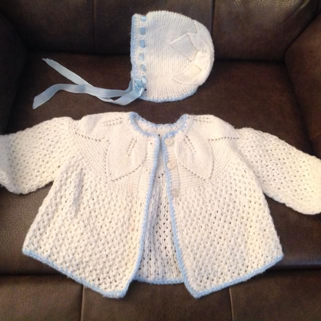 bdc9376c1544 Best Baby Girl Handmade Sweater bonnet Set for sale in Airdrie ...