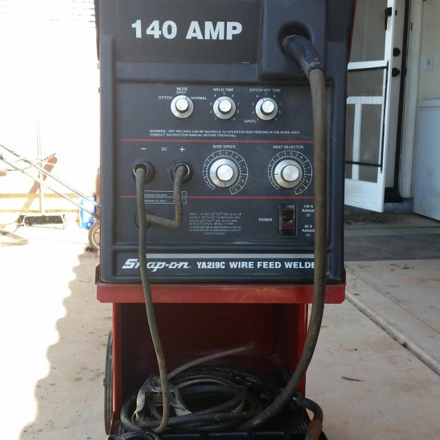 Best 140 Amp Snap On Ya219c Wire Feed Welder Never Been Used For Sale In Menifee California For 2020