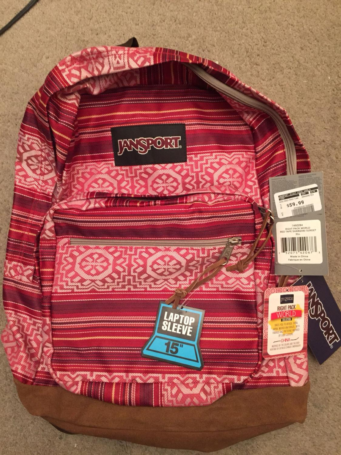 58e81f890 Jansport Right Pack Red Tape Backpack | Building Materials Bargain ...