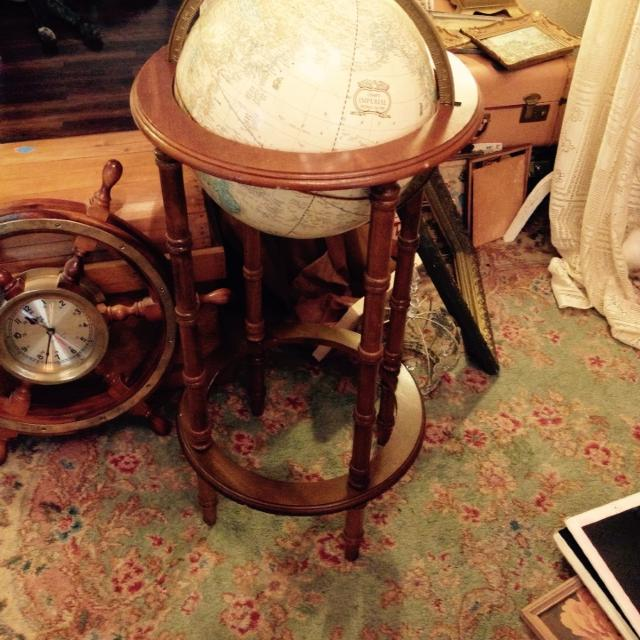 Cram S Imperial World Globe On Wooden Stand