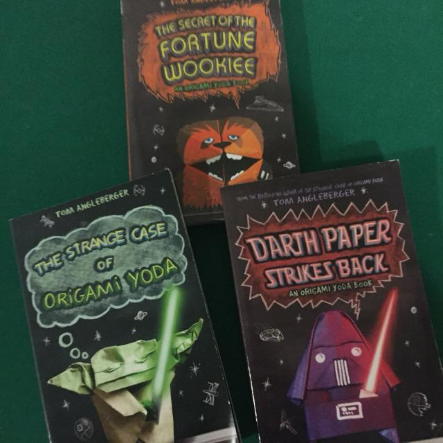 Origami YODA Book Series 3 Great Books The Strange Case Of Yoda