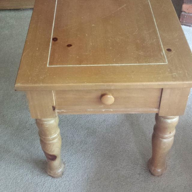 Fontana By Broyhill Occasional End Table Solid Oak Great Piece