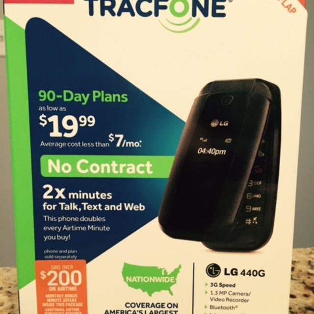 TracFone LG 440G No-Contract Flip Phone w/Double Minutes, Camera, Video,  Bluetooth