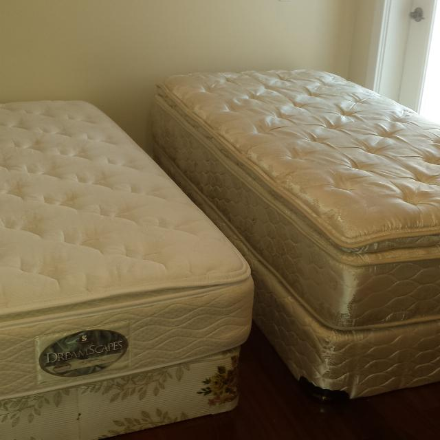 Single Mattresses Box Springs And Wooden Frames